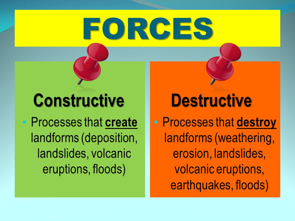 FORCES Constructive Destructive