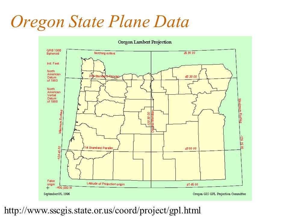 Oregon State Plane Data