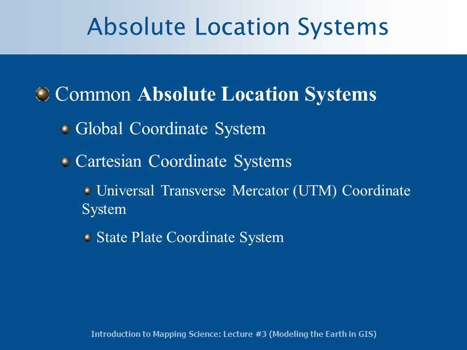 Absolute Location Systems
