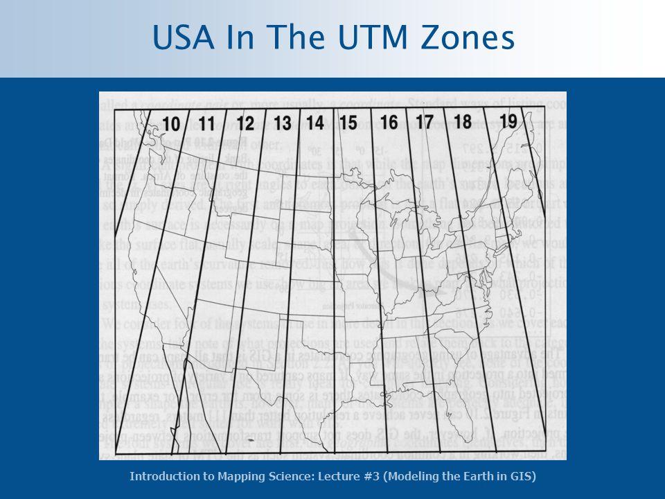 USA In The UTM Zones