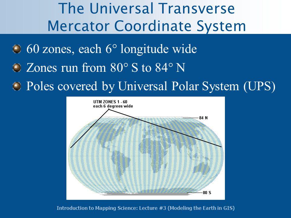 The Universal Transverse Mercator Coordinate System