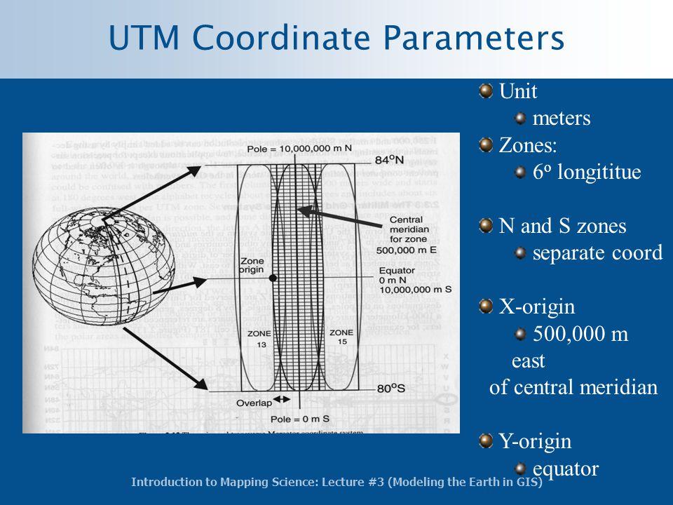 UTM Coordinate Parameters