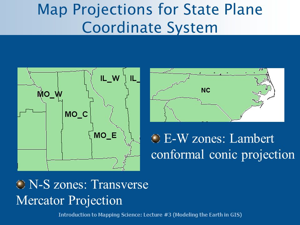 Map Projections for State Plane Coordinate System