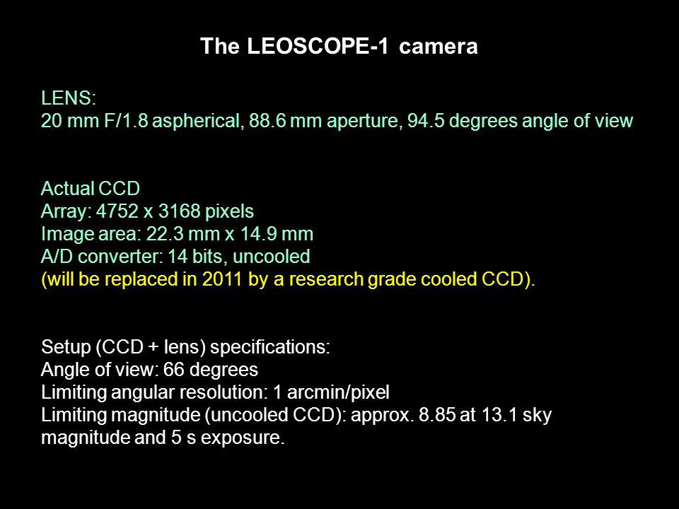 The LEOSCOPE-1 camera LENS: