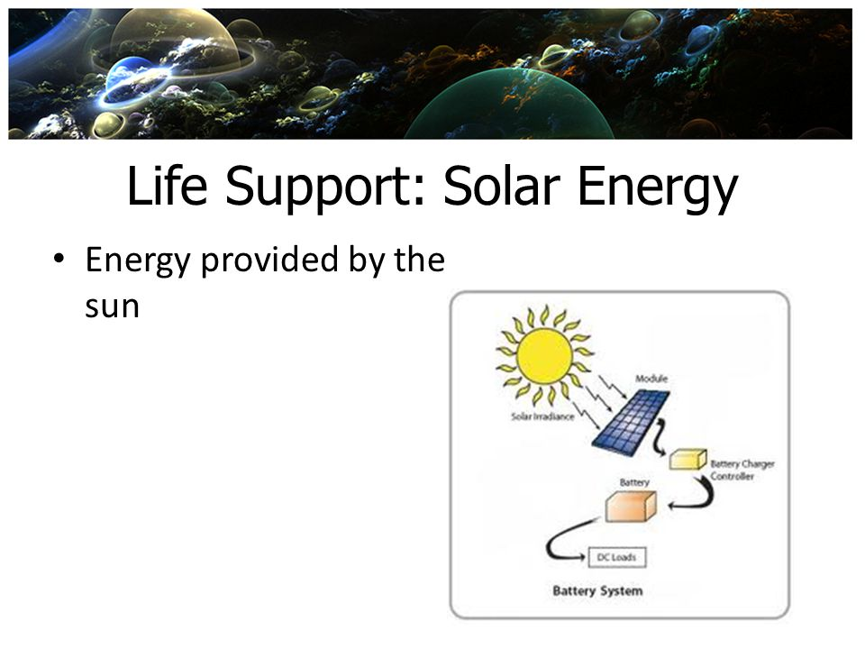 Life Support: Solar Energy