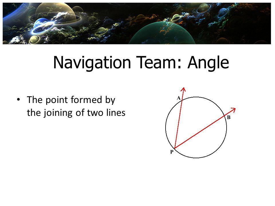 Navigation Team: Angle
