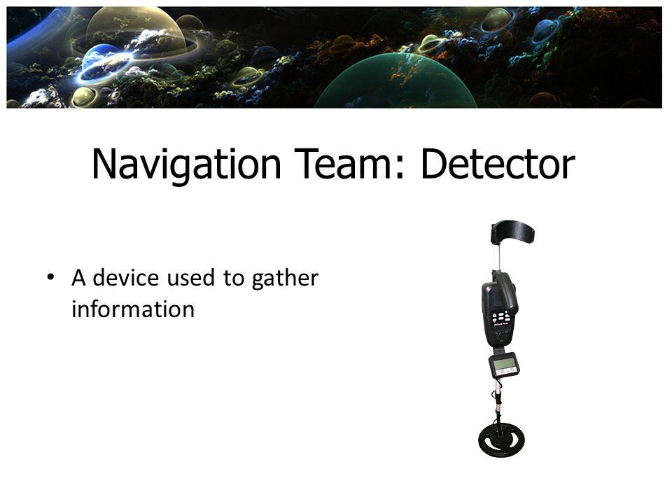 Navigation Team: Detector