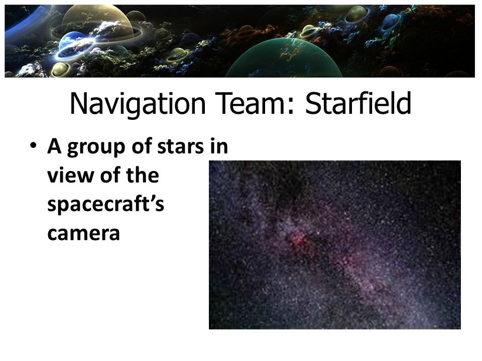 Navigation Team: Starfield