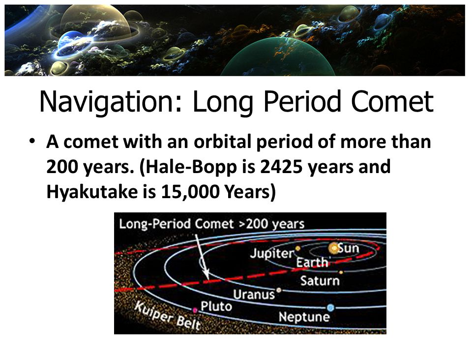 Navigation: Long Period Comet