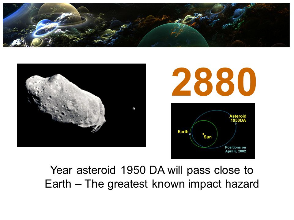 2880 Year asteroid 1950 DA will pass close to Earth – The greatest known impact hazard