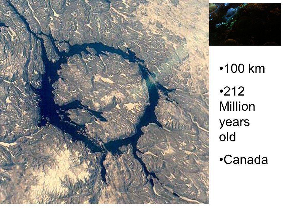 100 km 212 Million years old Canada