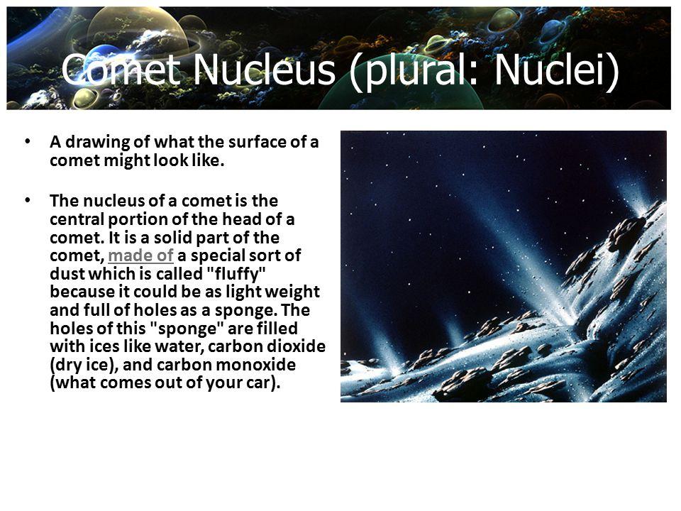 Comet Nucleus (plural: Nuclei)