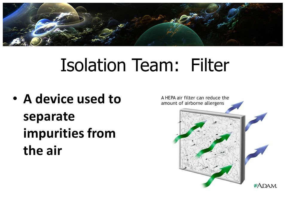 Isolation Team: Filter