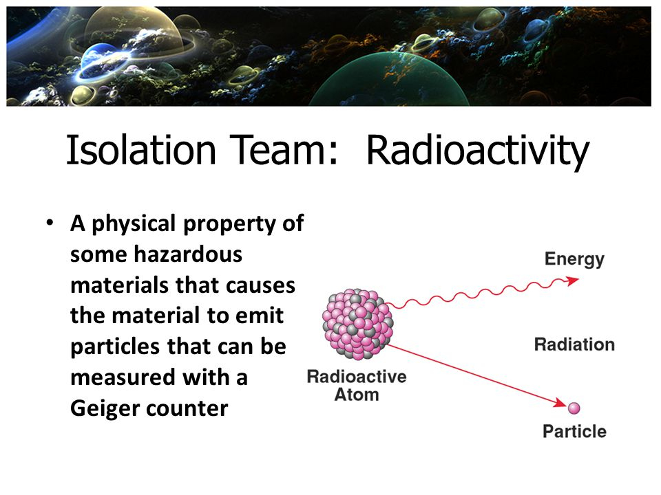 Isolation Team: Radioactivity