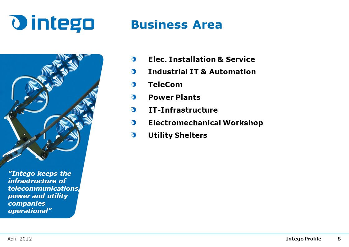 Business Area Elec. Installation & Service Industrial IT & Automation