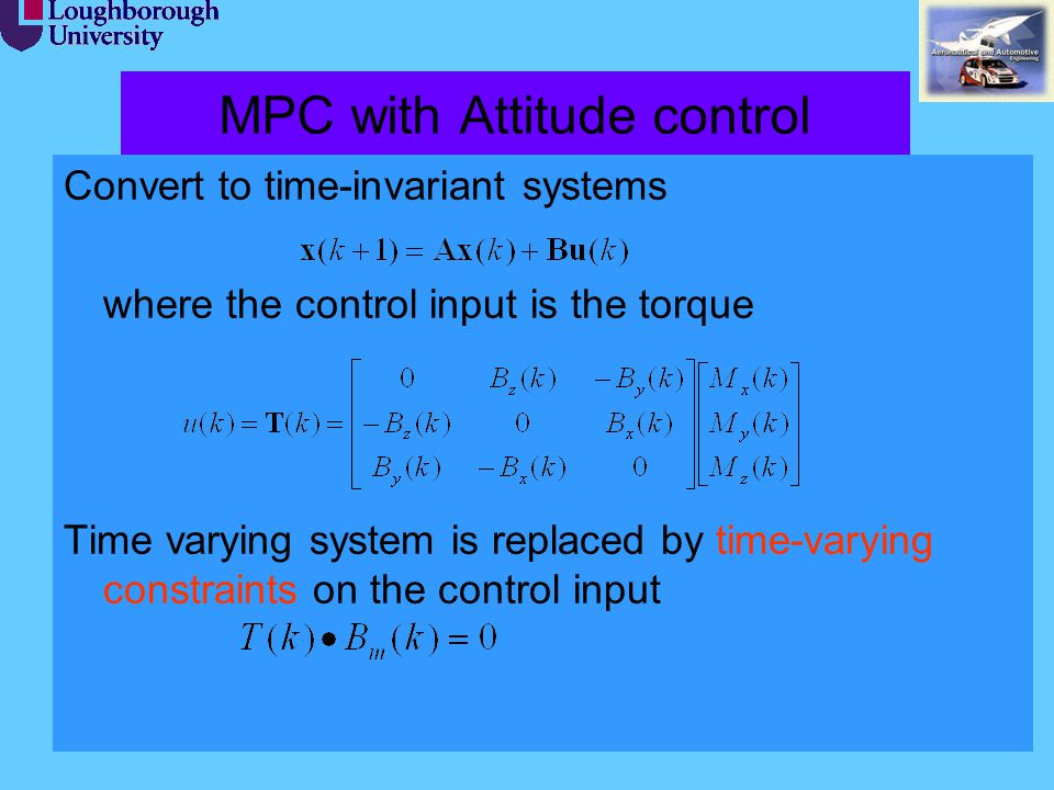 MPC with Attitude control