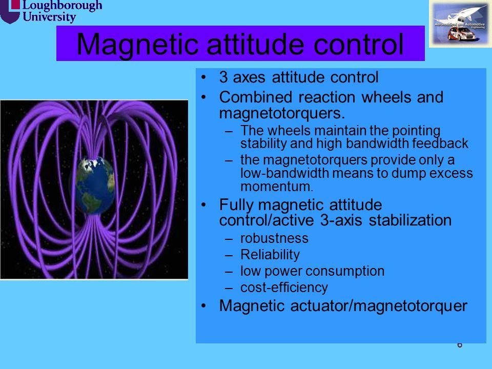 Magnetic attitude control