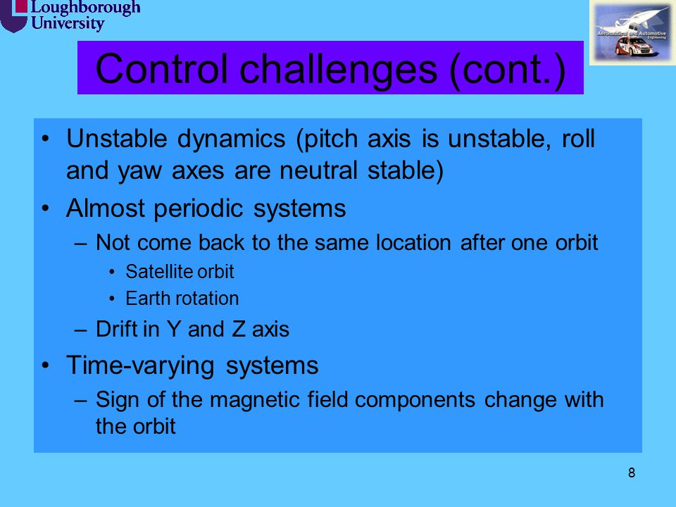 Control challenges (cont.)
