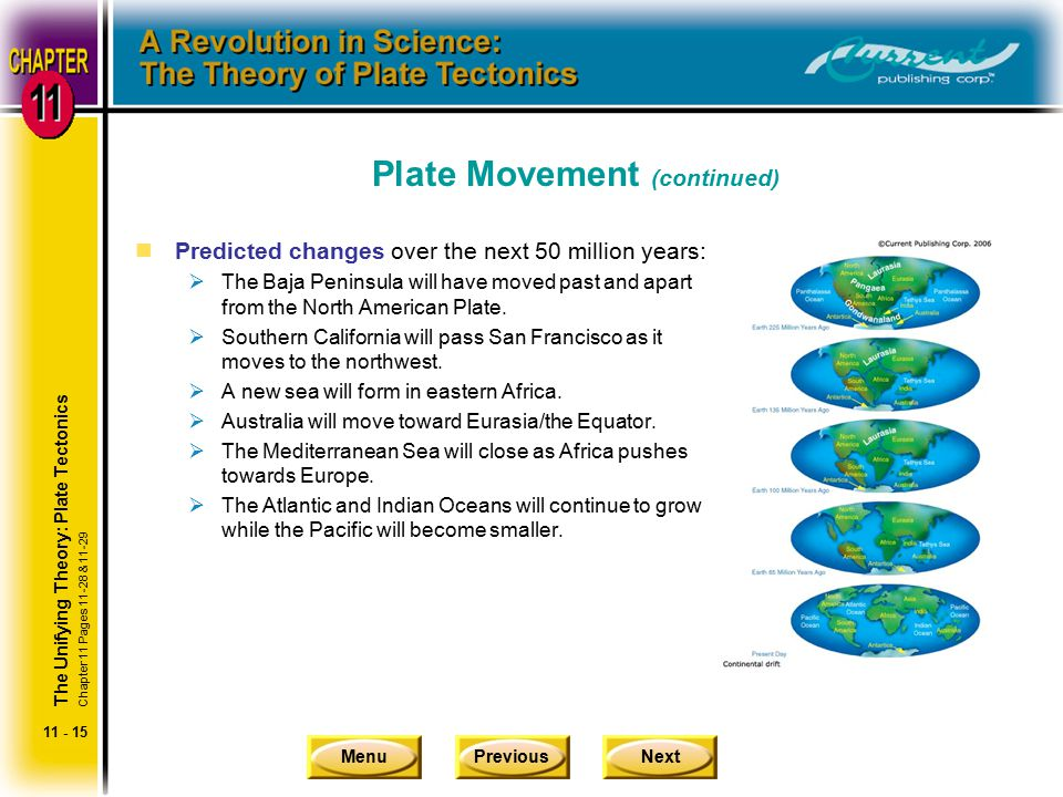 Plate Movement (continued)
