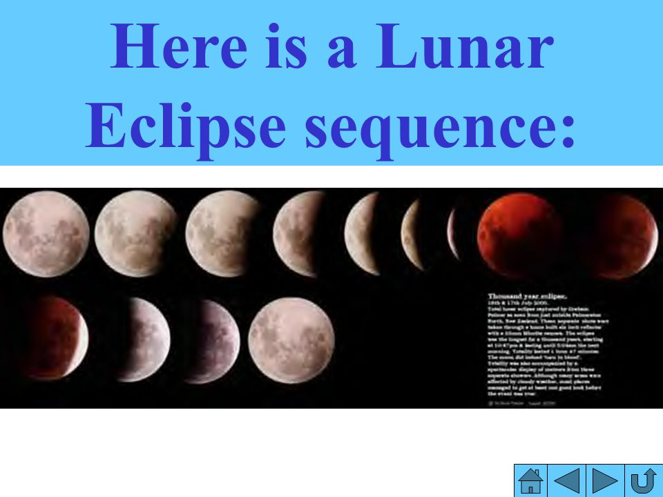 Here is a Lunar Eclipse sequence: