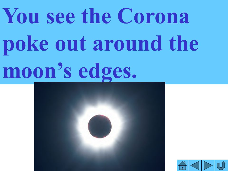 You see the Corona poke out around the moon's edges.