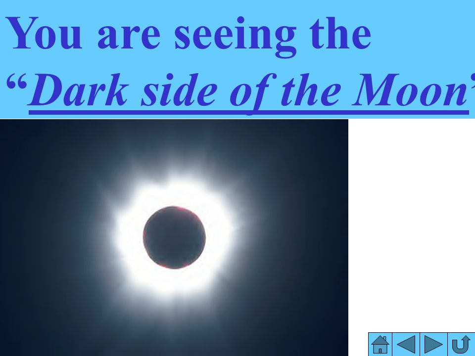 You are seeing the Dark side of the Moon