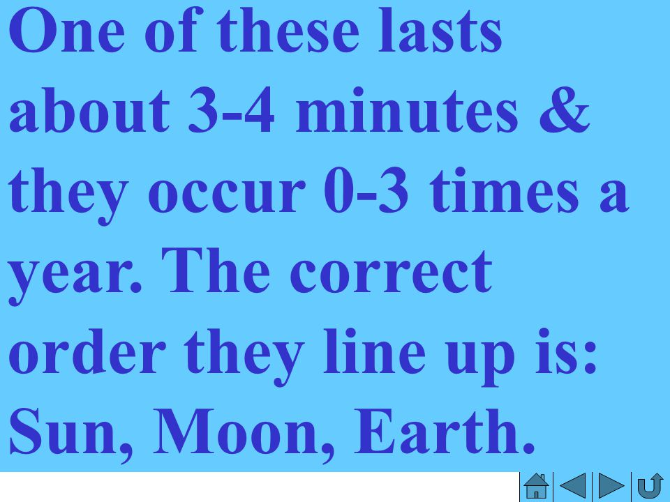 One of these lasts about 3-4 minutes & they occur 0-3 times a year
