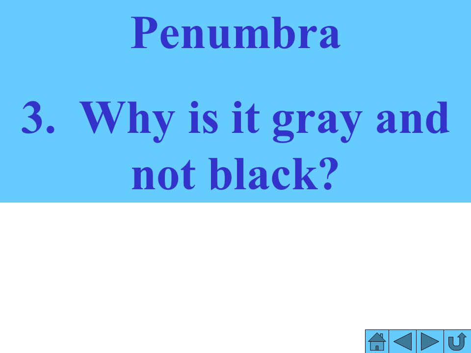 3. Why is it gray and not black