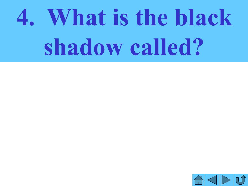 4. What is the black shadow called
