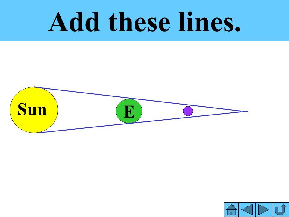 Add these lines. Sun E