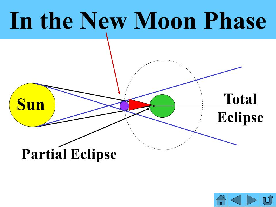 In the New Moon Phase Total Eclipse Sun Partial Eclipse