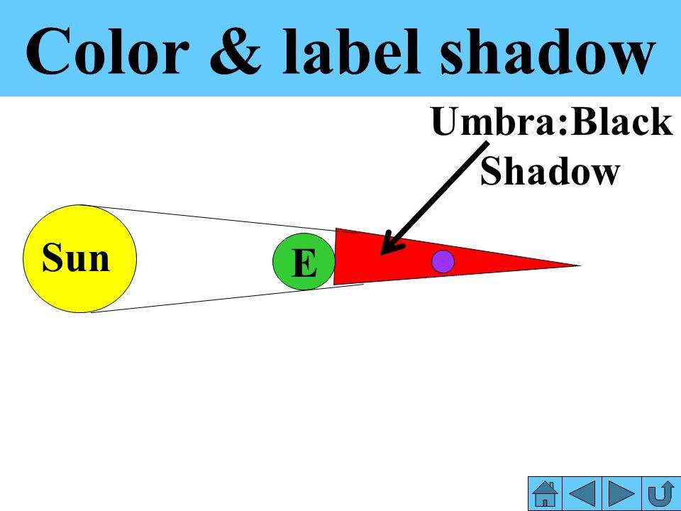 Color & label shadow Umbra:Black Shadow Sun E