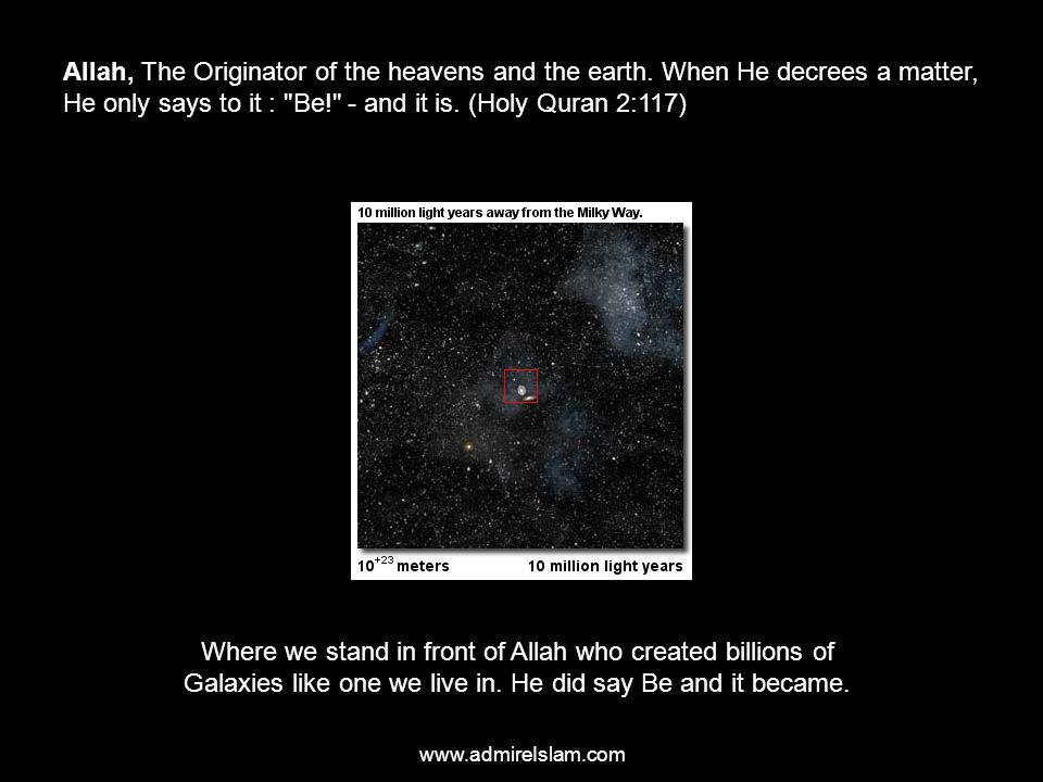 Allah, The Originator of the heavens and the earth