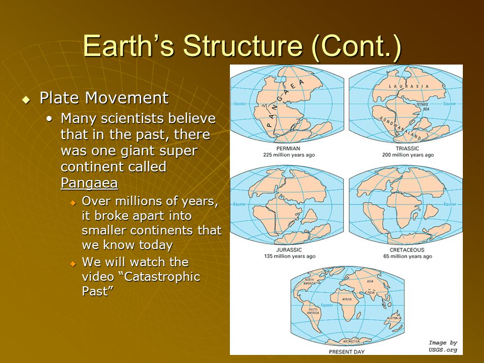 Earth's Structure (Cont.)