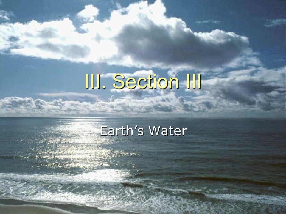 III. Section III Earth's Water