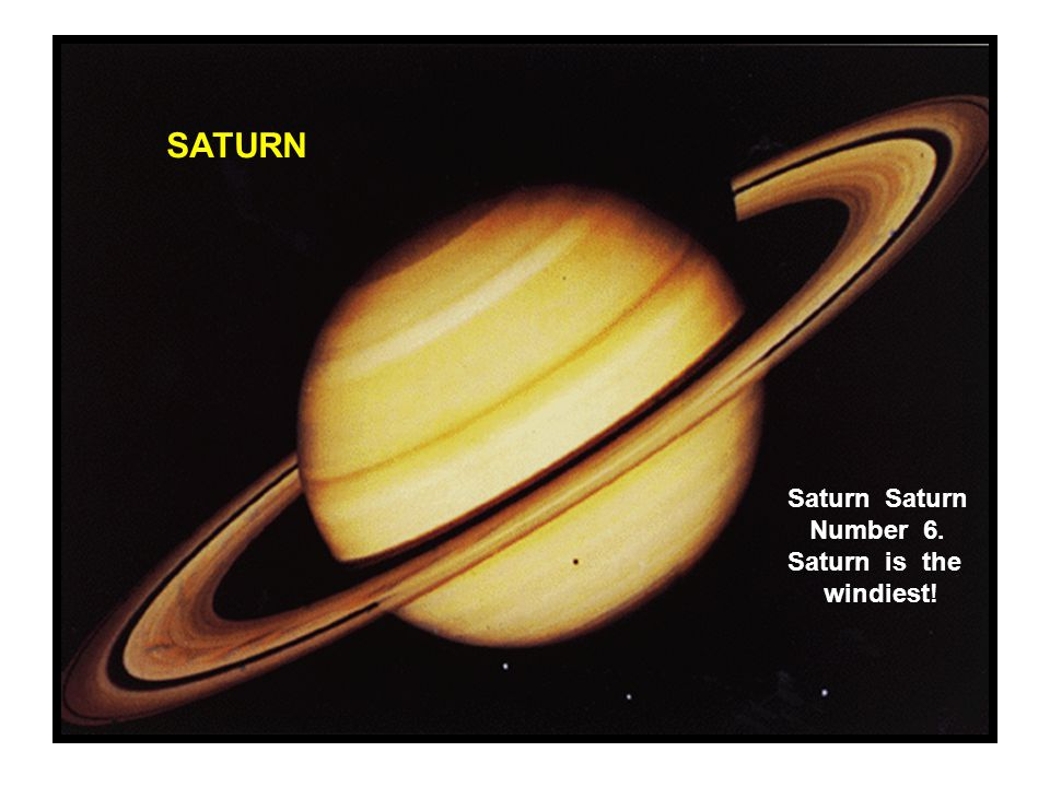 SATURN Saturn Saturn Number 6. Saturn is the windiest!