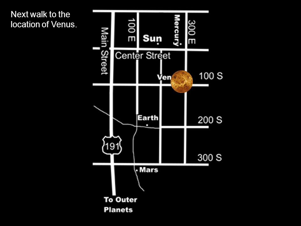 Next walk to the location of Venus.