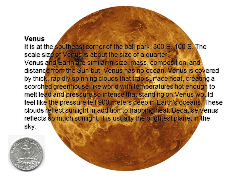 Venus It is at the southeast corner of the ball park, 300 E. 100 S
