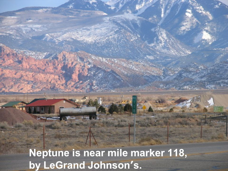 Neptune is near mile marker 118, by LeGrand Johnson's.