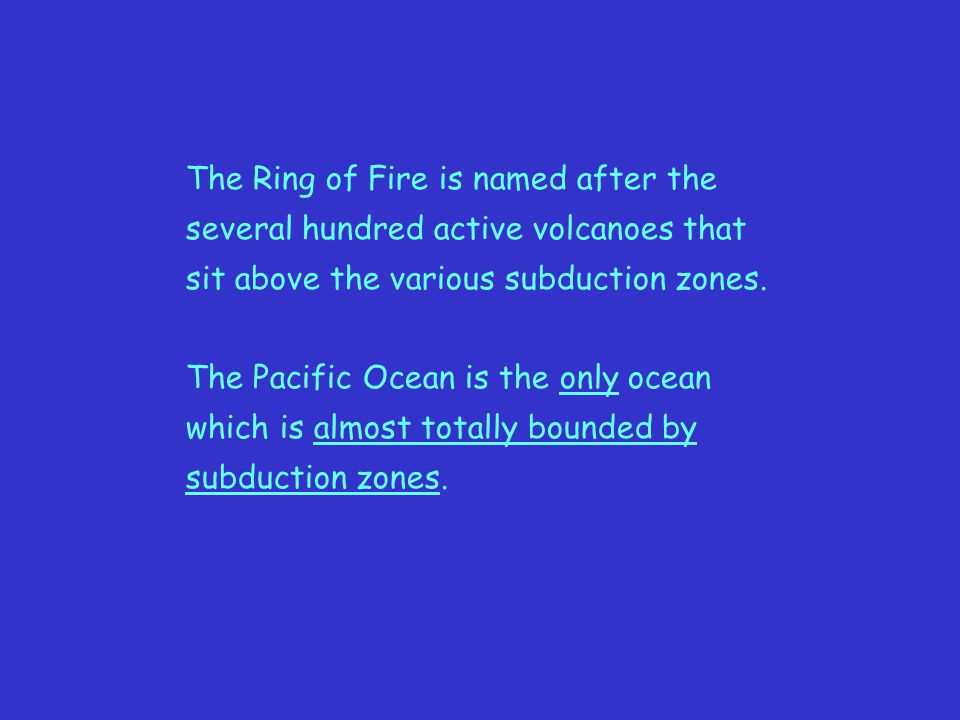 The Ring of Fire is named after the