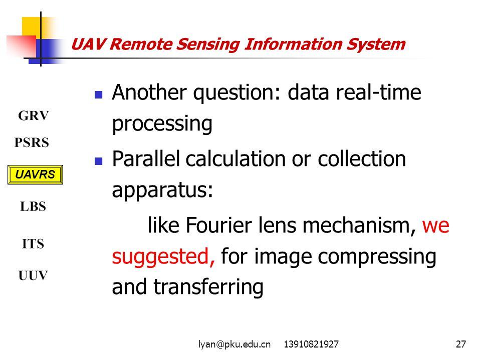 UAV Remote Sensing Information System
