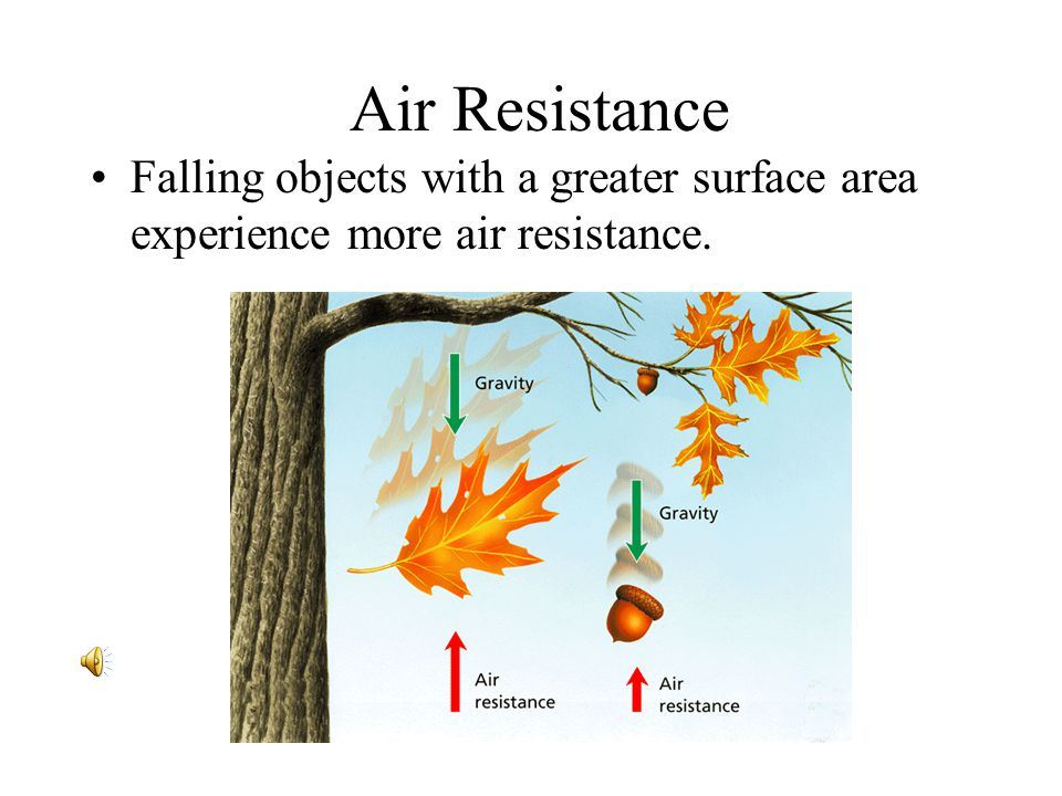 - Friction and Gravity Air Resistance.