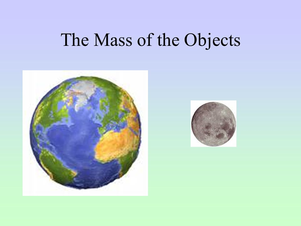 The Mass of the Objects
