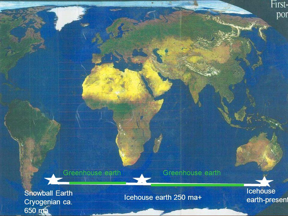 Greenhouse earth Greenhouse earth. Icehouse earth-present.