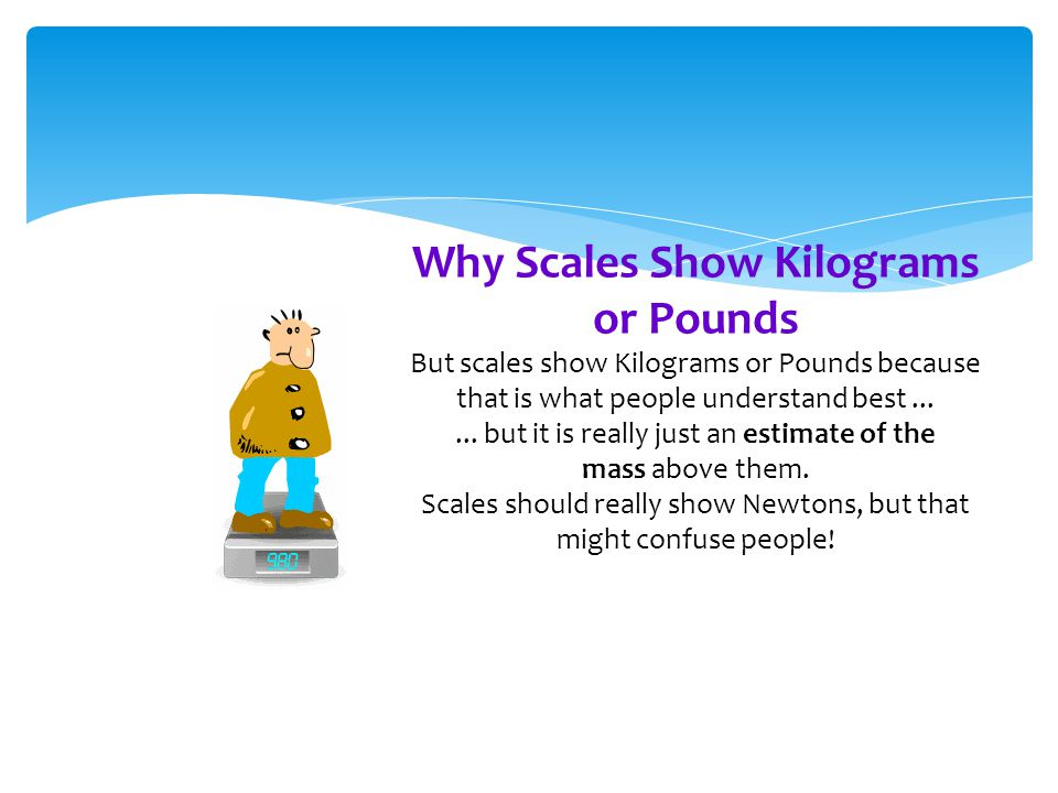 Why Scales Show Kilograms or Pounds