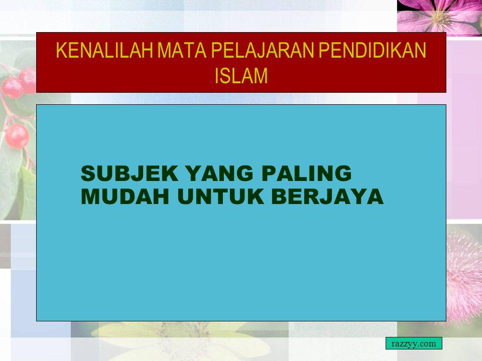 KENALILAH MATA PELAJARAN PENDIDIKAN ISLAM