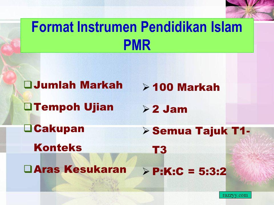 Format Instrumen Pendidikan Islam PMR