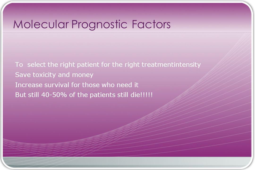 Molecular Prognostic Factors