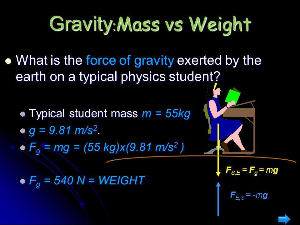 Gravity:Mass vs Weight