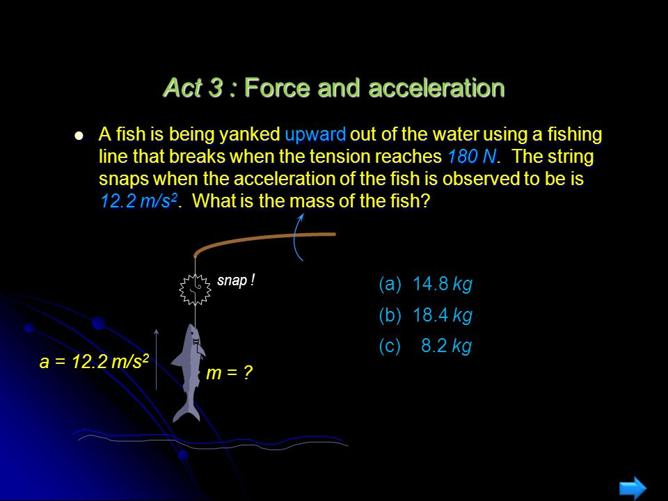 Act 3 : Force and acceleration